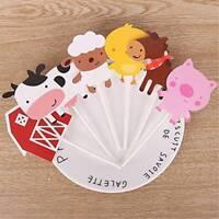 24pcs/lot Farm Animals Cupcake Cake Topper For Baby Birthday Party Baking Decor