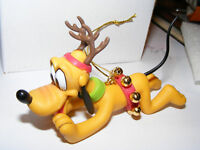 Pluto W/ Antlers & Jingle Bells Christmas Ornament Disney New