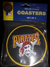 1 - 4 Pack Vinyl Drink Coasters - Pittsburgh Pirates