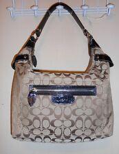 Coach Penelope Signature Jacquard Large Hobo Handbag Khaki & Black 14691 NWT
