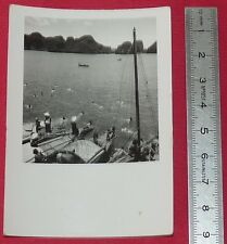 PHOTO ARGENTIQUE MARINE 1950 INDOCHINE COLONIES FRANCE TONKIN BAIE D'ALONG
