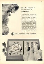 1962 Bell Telephone PRINT AD Dial & Touch Tone Push Button Multi-Line Phone Fun!