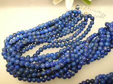 """Vintage multi strands(10) natural Lapis necklace w/ Sterling Silver clasp 18""""+2"""""""