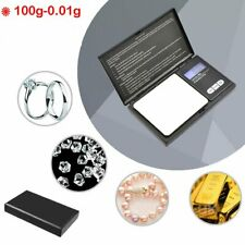 Pocket Digital Scales Jewellery Gold Weighing Mini LCD Electronic 100g x 0.01g