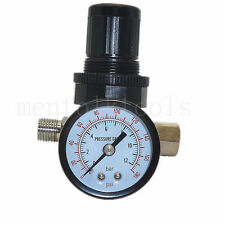 Air Control Compressor Pressure Relief Regulator Valve & 0-180PSI Pressure Gauge