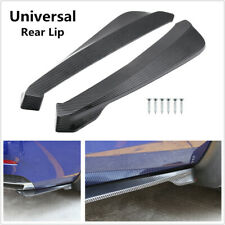 2 Pcs Carbon fiber Color Car SUV Bumper Spoiler Rear Lip  Wrap Angle Shovel ABS