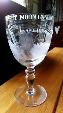 RARE Engraved CRYSTAL Goblet APOLLO 11 MOON LANDING First Man on the Moon 1969