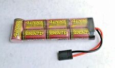 Melasta 8.4v NIMH 4200mAh Battery 7 Cells Flat Battery with Traxxas connector
