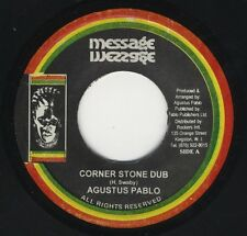 "Augustus Pablo - Corner Stone Dub / Freedom Step NEAR MINT JA 7"" ROOTS MESSAGE"