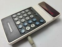 RARE Vintage Panasonic Electronic Calculator with Original Power Supply JE-2001U