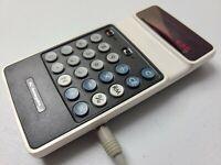 RARE Vintage Panasonic Electronic Calculator with Original Power Supply JE-2001U