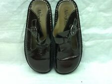 "Alegria Brown Leather #ALG-111 Buckle Slip On Clogs Shoes Size 7(38) ""GUC"""