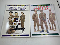 British Military History: Osprey Publishing Mike Chappell PB Book Lot Of 2