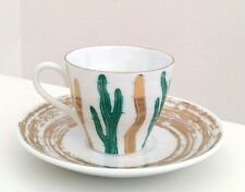 Sargadelos Porcelain Cactus Vintage Coffee Cup and Saucer  - NEW