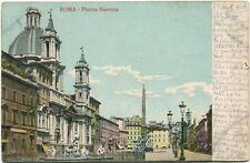 1908 Roma Piazza Navona Port Blakely USA FP COL VG