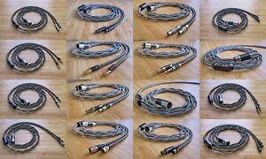 Custom Headphone Cable Cryo Copper Litz OCC Pure Silver Gold Palladium Rhodium