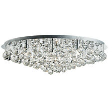 Hanna Chrome 8 Light Semi-flush Ceiling Fitting With Clear Crystal Balls Detail