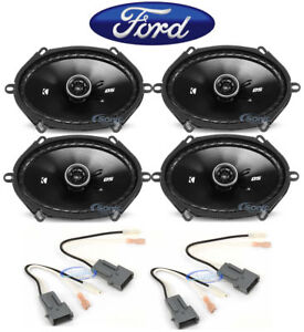"Kicker 6x8"" Front+Rear Car Speaker Replacement For 2004 Ford F-150 Heritage"