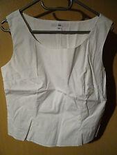 H&M Ärmellose Damenblusen,-Tops & -Shirts mit Rundhals und Baumwolle