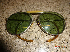 Vintage WWII US Pilots Aviator Sunglasses R.O.Co Rochester Optical BAUSCH & LOMB