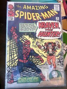 Amazing Spiderman # 15 Kraven the Hunter! Marvel Comics 1964