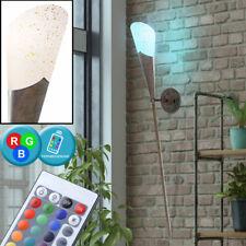 RGB LED mur torche lumière brun rustique couloir lampe dimmable TELECOMMANDE