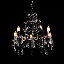 lux.pro cristal Luminaire couronné Lustre Noir Plafonnier Lampe suspendue