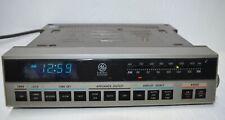 Ge 7-4220A Wood Grain Clock Radio Alarm General Electric Am/Fm Blue Led