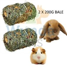 2X TRIXIE NATURAL FLOWER MIX GRASS BALE RABBIT GUINEA PIG CAGE HUTCH TREAT 60784