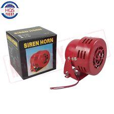 1950s 12v Car Truck Motorcycle Driven RED Air Raid Siren Horn Alarm 50's