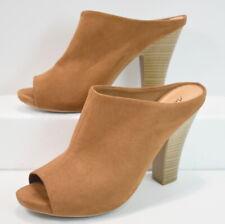 Shoes 7.5 Mules American Eagle Women Suede Heels Brown
