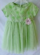 Girls Party Dress Size 18 Month With Diaper Cover by Marmellata Lime Green