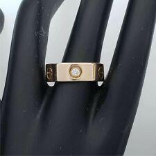 CARTIER 3 Diamond Love Ring 18k Rose Gold .22 ctw Size 6.5 MA-CLR12