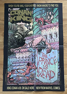 CONAN THE KING #20 1983 PROMOTIONAL POSTER MIKE KALUTA 21X32 POSTER Comic Marvel