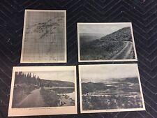 "Vintage ""Grand Mesa Resort"" COLORADO Map Car Road Theme. Rare 1cent Postcard Set"