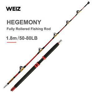 Custom Overhead Fully Rollered Trolling Game Fishing Boat Tuna Rods 6' 23-37kg