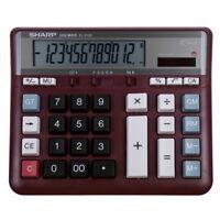 New for SHARP EL-2135 Calculator Computer Desktop In Case Working Keys 12 Digits