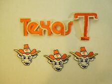 Lot of 5 University of Texas Longhorns Iron On Embroidered Patches Mascot #1
