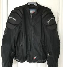 Joe Rocket Mens Motorcycle Jacket Black Mesh Armor Padded Size XL