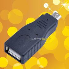 OTG Micro USB 2.0 Male to USB A 2.0 Female Adapter Converter to U Flash Memory