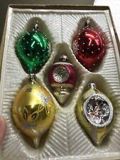 New ListingVintage Box Of 5 Mercury Gkass Christmas Ornaments
