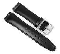 Minott Ersatzband Kalbsleder Band schwarz passend zu Swatch Uhren 19mm 23295S