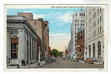 Park Avenue West - Mansfield Ohio Photo Postcard c1930s