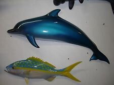 "36"" Bottled Nose Dolphin ""Blue"" Half Mount Replica"