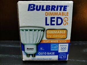 New BULBRITE Dimmable LED 6W MR16 GU10 Base 3000k Soft White Light 120V 771172