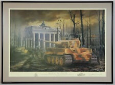 Tiger at the Gate Berlin 30th April 1945 David Pentland German WWII Art Print