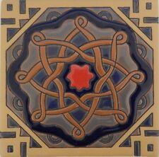Mexican Tiles High Relief Ceramic Cuerda Seca Malibu Santa Barbara Tiles 6x6 609