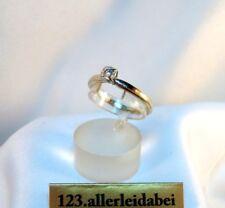 älterer Brillant Ring 585 Gold 0,05 ct Goldring Brillanten Gelbgold / BH 525