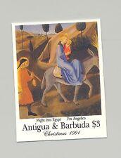 Antigua 1991 Christmas, Art, Refugees 1v Imperf Chromalin Proof from set
