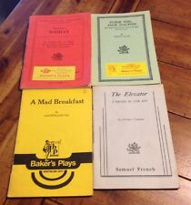 50's-60's Lot of 4 Play Books Booklets Hamlet Baker's Plays